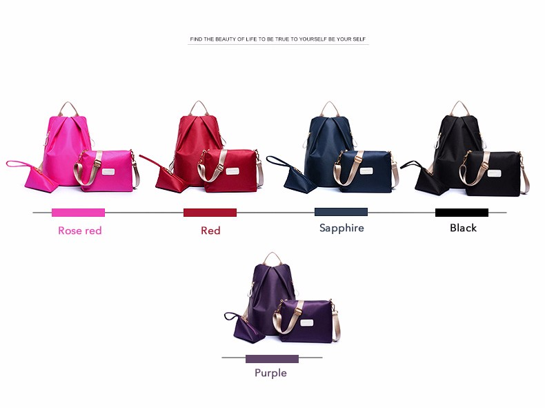 2016 Trendy New Simple Handbag Women Designer Composite Bag High Quality Oxford Shoulder Bag Lady Fashion Waterproof Travel Bag