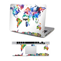 Hot Sale World Map Painting Sticker Notebook Vinyl Decal Laptop Top and Wrist Pad Skin For