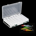 High Quality 10 and14 Compartments Double Sided Fishing Lure Bait Hooks Tackle Waterproof Storage Box Case