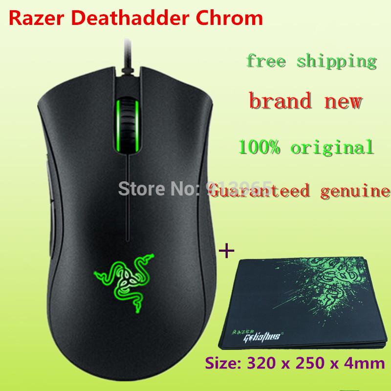NEW Origina Razer Deathadder Chroma Gaming Mouse,10,000dpi +razer Goliathus Mouse pad /Size: 320 x 250 x 4mm (gift)+ mouse bag(China (Mainland))
