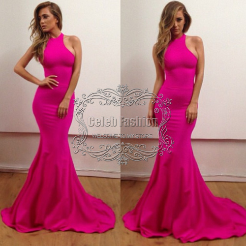 2017 Vestido De Fiesta High Neck Sheath Long Mermaid Dress