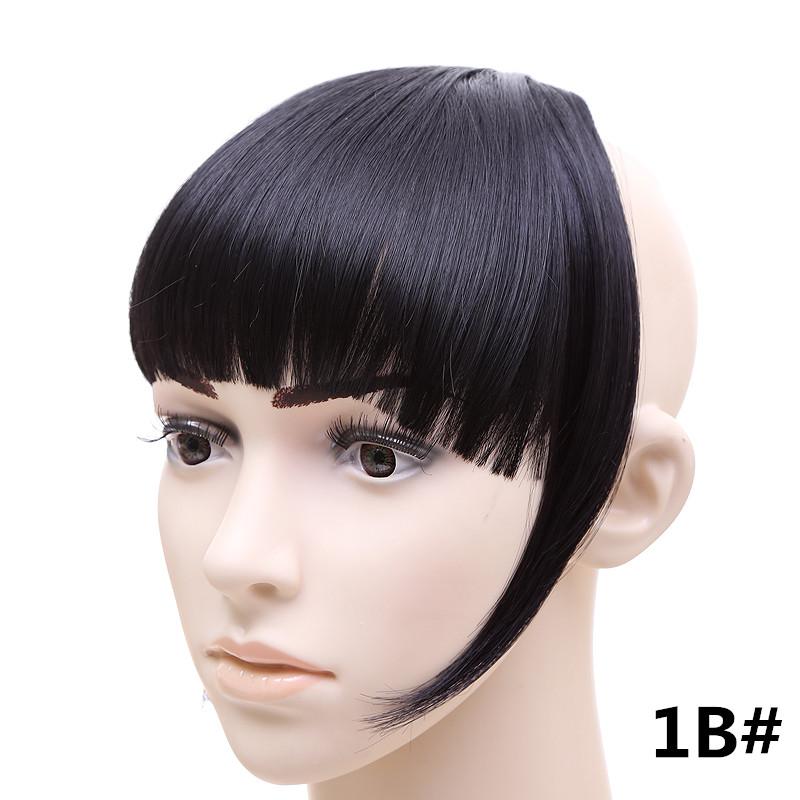 Jeedou короткий передний аккуратный челка клип короткая заколка для волос прямые 1B.2_