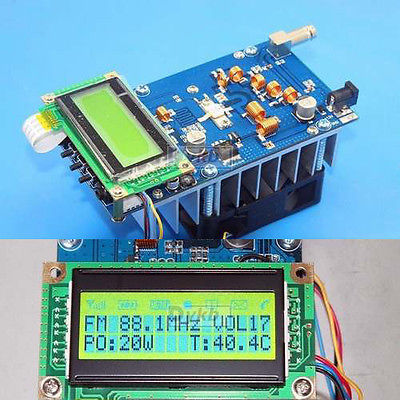 FM Transmitter adjustable 30W Power 12V Digital LED Radio Station PLL Stereo FM(China (Mainland))