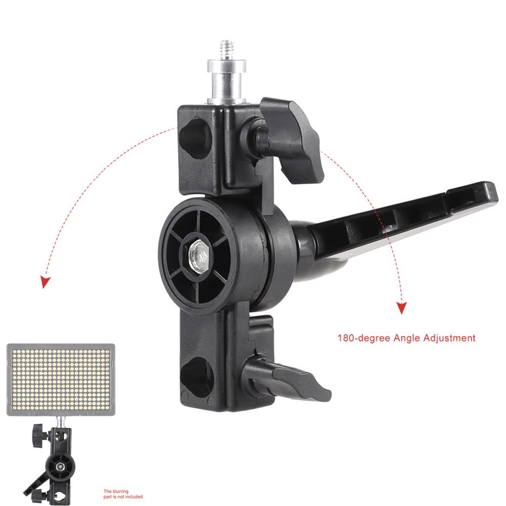 "Aluminum Swivel Adapter Speedlite Flash LED Light Stand Bracket Holder with 1/4"" Screw Mount(China (Mainland))"