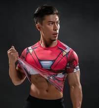 Korte Mouw 3D T-shirt Mannen T-Shirt Man Tee Captain America Superman tshirt Mannen Fitness Compressie Shirt Punisher MMA(China)