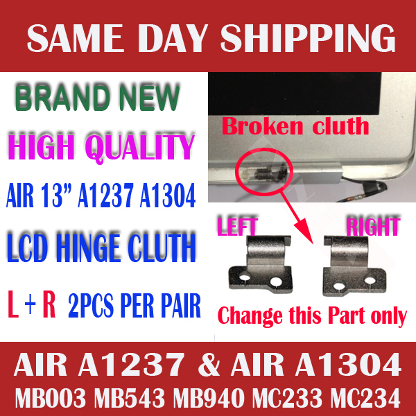 "OEM NEW Left and Right L+R Side LCD Screen Panel Hinge Hinges Clutch Set for Macbook Air 13"" A1237 A1304 Perfect !(China (Mainland))"