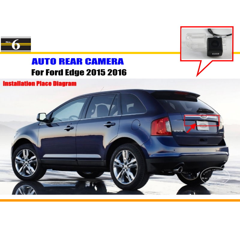 Car Rear View Camera For Ford Edge 2015 2016 / Reverse Camera / HD CCD RCA NTST PAL / License Plate Light OEM(China (Mainland))