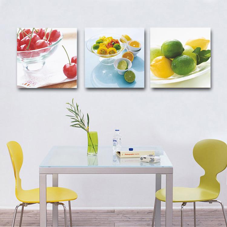 Modern home decor kitchen decorative canvas fruit lemon for Apples decoration for home