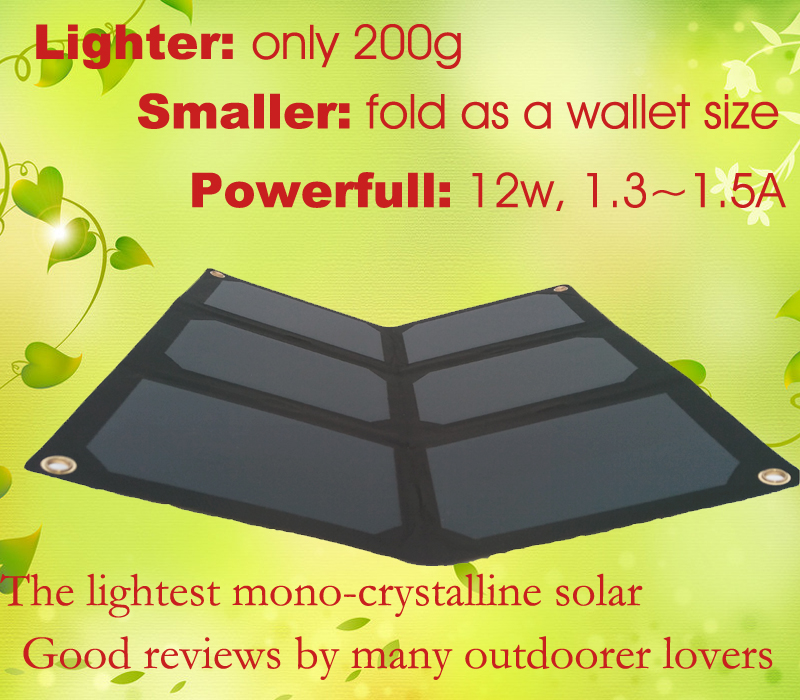 BLACKLEAF 12W Outdoor Folding Foldable Solar Panel Charger for font b Power b font font b