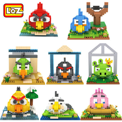 Birds Cartoon Building Blocks LOZ Minifigure Nanoblock Action Figure Brick Miniature Model Kits Children Educational Block - Keny Toy Kingdom Co.,Ltd store