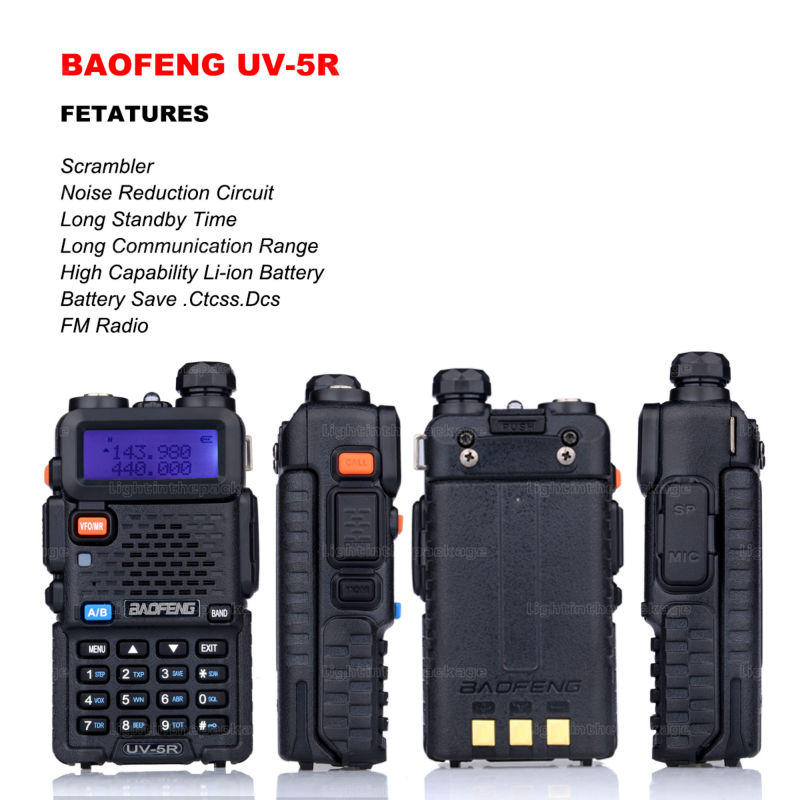 Baofeng uv-5r 8W ptt walkie talkie uv-8HX sister pmr radio walk talk bf-a58 uv5r uvb2 plus uv-b5 tyt cb radio+antena+car charger (26)