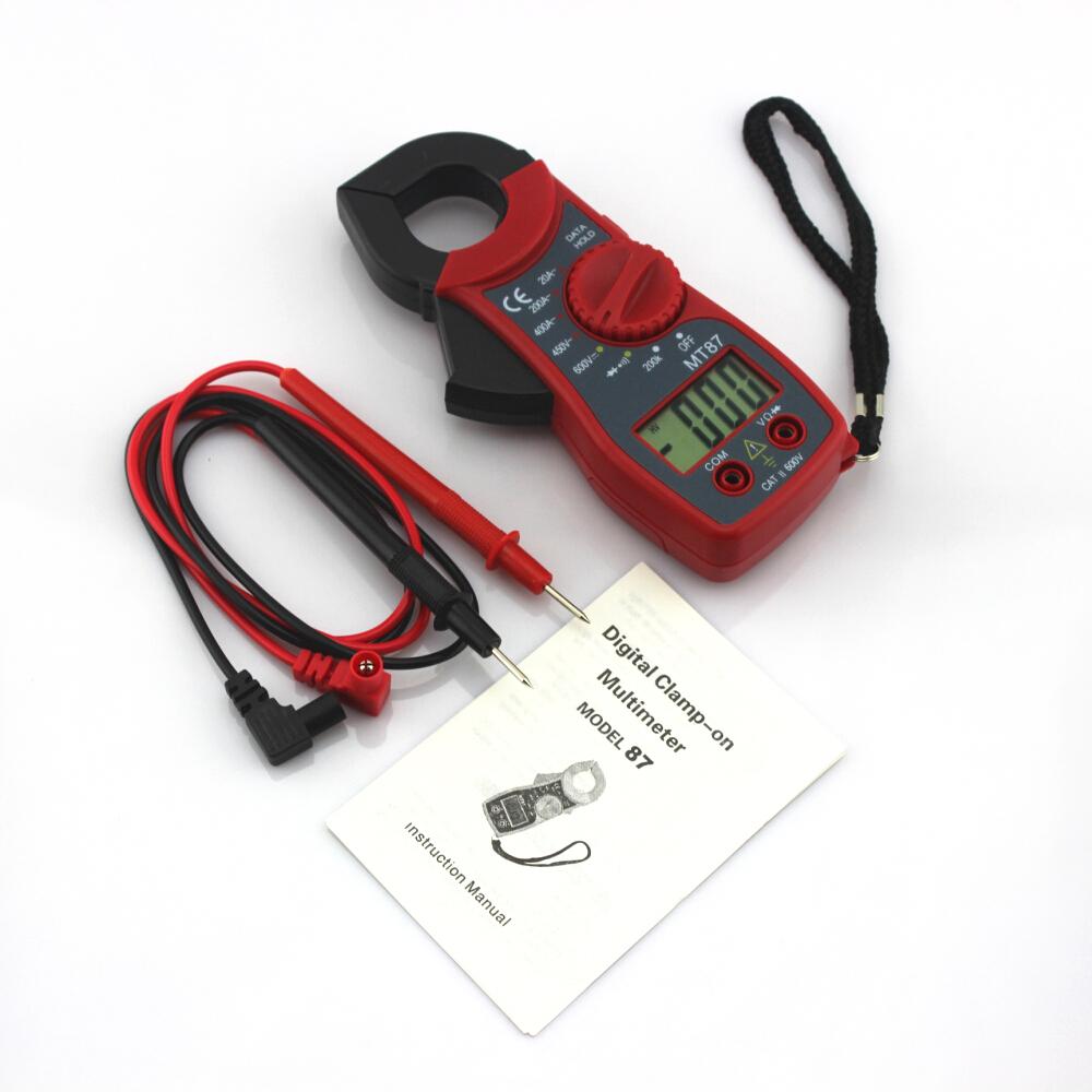 Gules MT87 Clamp Meter Amper Digital Multimeter Pincers AC/DC Current Voltage Tester Clamp Ammeters