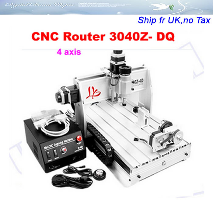 from UK! cnc wood carving machine for 3040Z DQ with 4th axis,china cnc ...