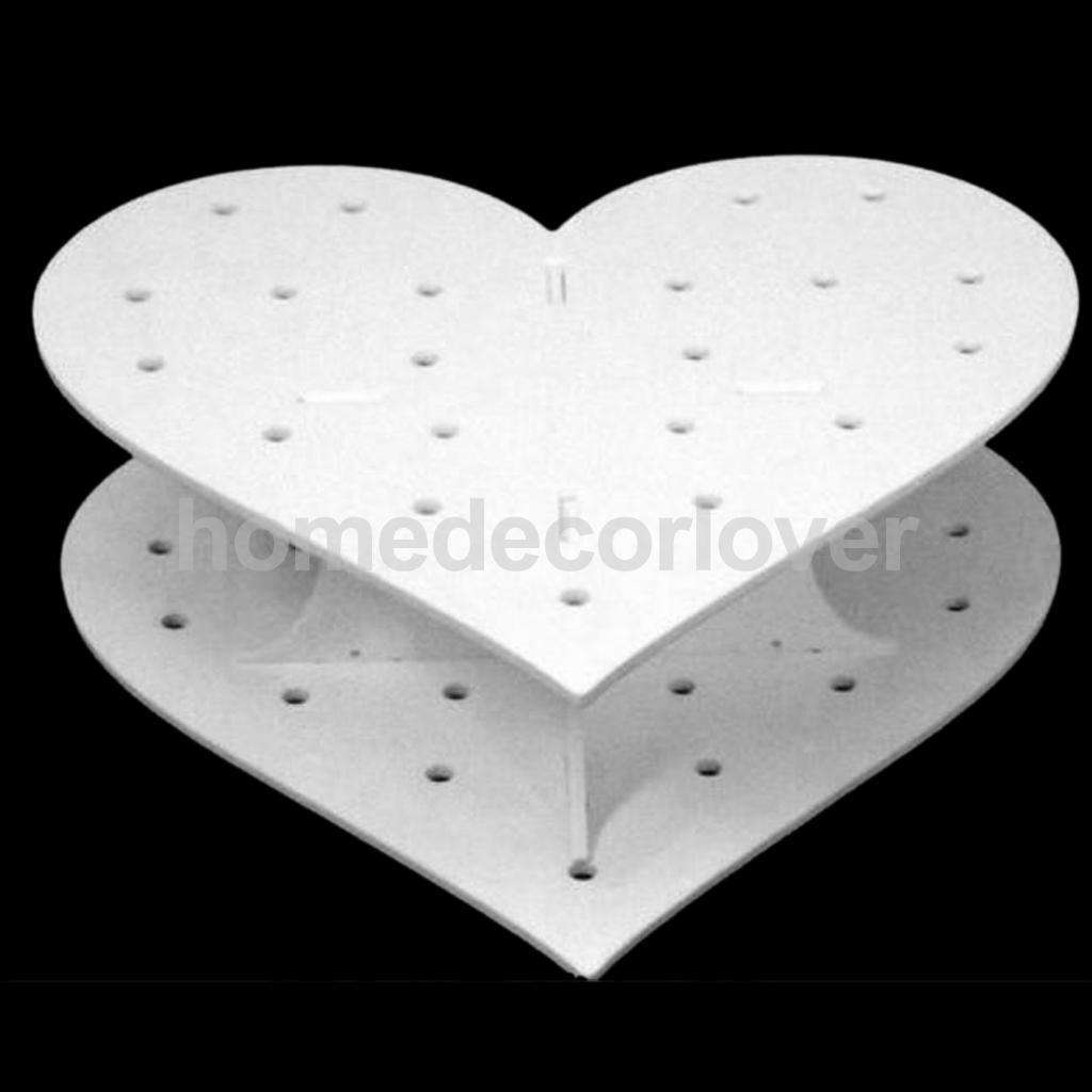 15 Holes Acrylic White Heart Shape Cake Pop Lollipop Display Stand Holder(China (Mainland))