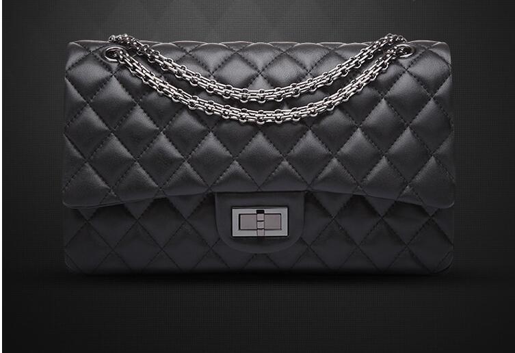 2016 new high quality classic First Layer sheepskin female package rhombus chain bag Shoulder bag Crossbody Bags woman