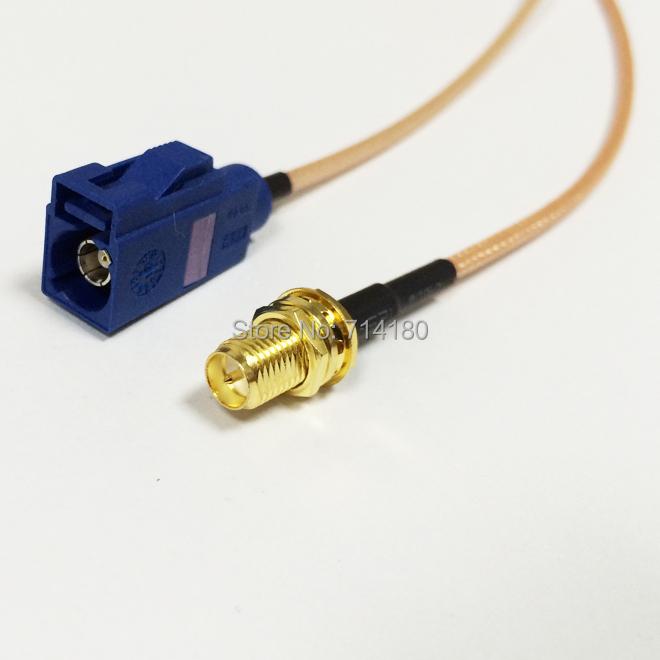 Разъем No GPS RP SMA pin Fakra c RG316 15 6 SMA cable assembly