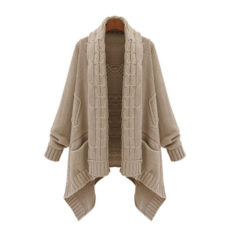2016 new autumn winter Women's Large Size cardigan Loose ...