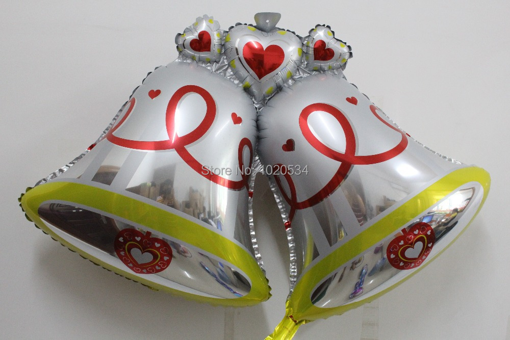 50pcs/lot  98cm*72cm   large wedding bell balloon aluminum foil Christmas decoration<br><br>Aliexpress