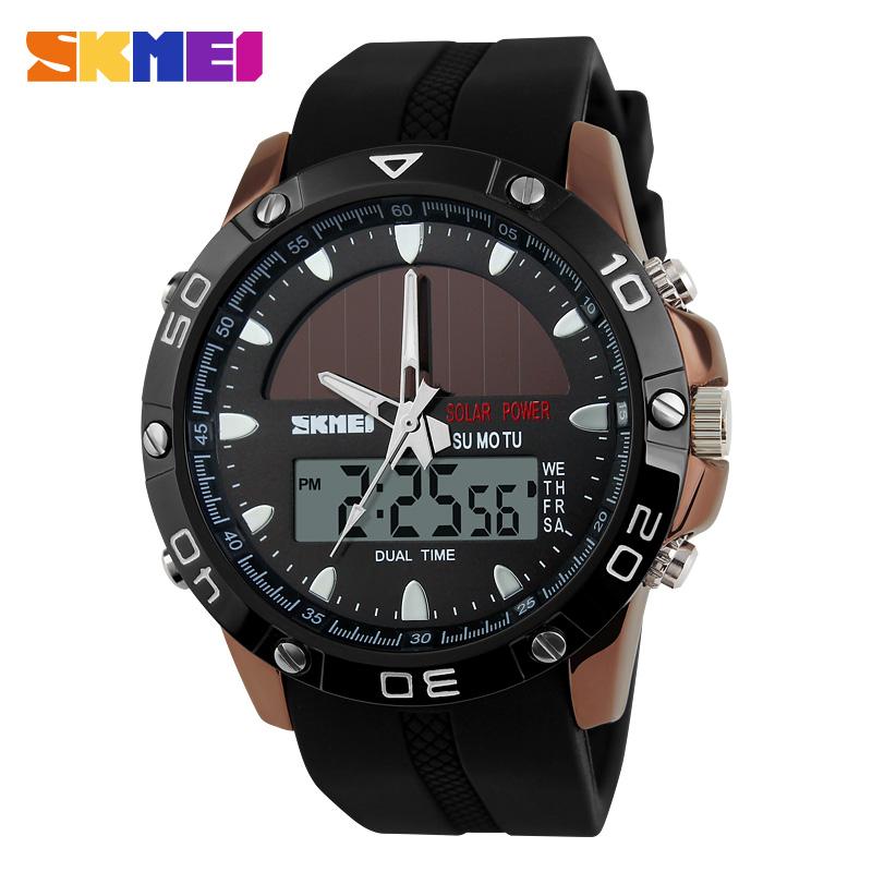 New 2016 Men Sports Watches Skmei 1064 Solar Power Army LED Watch Waterproof Outdoor Military Dress Wristwatch Relogio Masculino(China (Mainland))