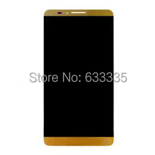 For Huawei mate7 MT7-TL00 MT7-CL00 MT7-UL00 MT7-TL10 Gold LCD Display Panel Screen + Digitizer Touch Screen Glass Free Shipping