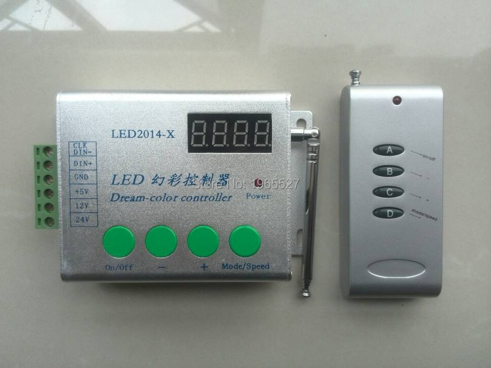 LED-2014-X,dream color controller,support W2811/WS2812B/TM1804/INK1003/UCS1903 etc,2048pixels controlled,DC5-24V  -  Shenzhen Huanuo Mei Technology Co., Ltd. store