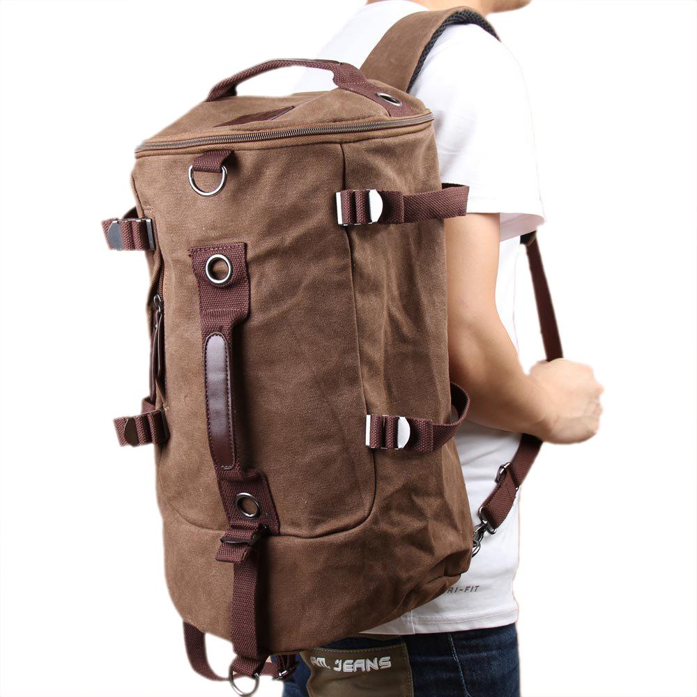 IMC Men Canvas Backpack Rucksack Laptop Shoulder Outdoor Duffle Bag(China (Mainland))