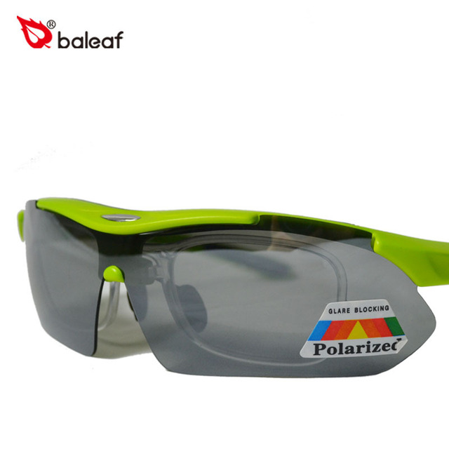 YD-002 / New Baleaf Brand MTB Cycling Bike Sunglasses Motorcycle Riding Glasses Green CE Brazil Color