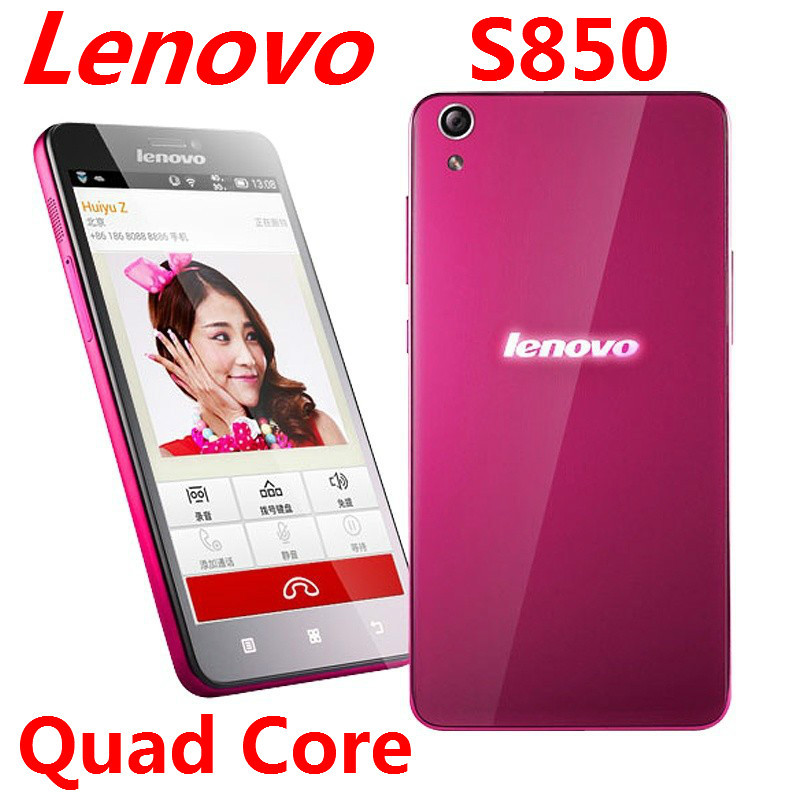 "Hot sale Original Lenovo S850 cellphone 3G-WCDMA smartphone MTK6582 Quad Core 5"" IPS Screen Android 4.4 Dual Sim 13.0MP 1GB/16GB(China (Mainland))"