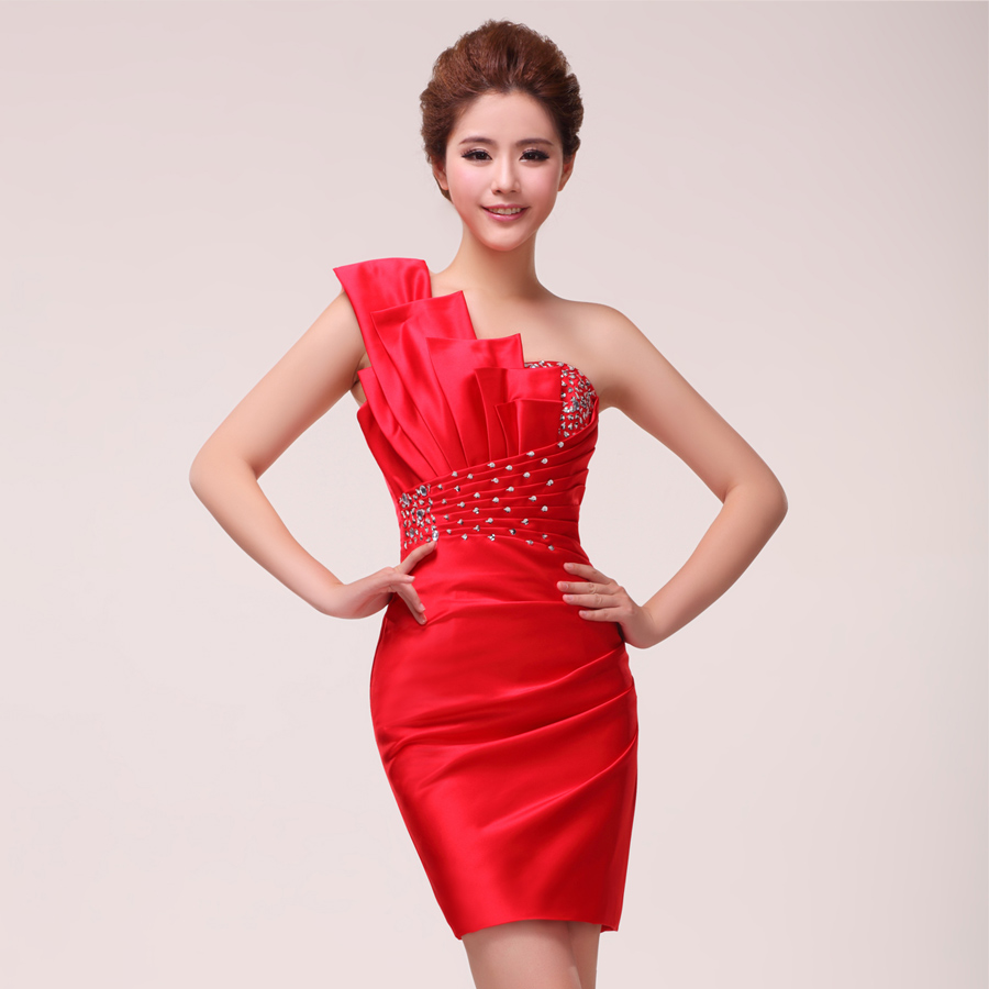 2015 new design cocktail dress blue party gowns red for Formal short dresses for weddings