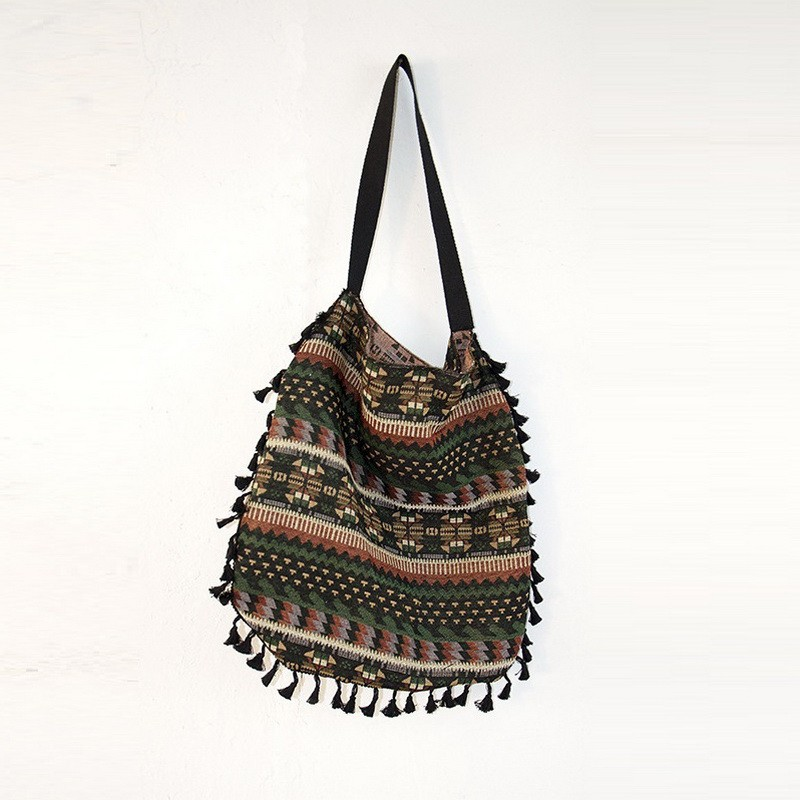 Tassel Fringe Women Vintage Shoulder Tote bag  (2)