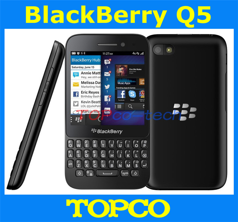 """Original unlocked Blackberry Q5 mobile phone Dual-core 3.1"""" touch screen+QWERTY 3G&4G GSM 5.0MP 2GRAM+8GROM freeshipping(China (Mainland))"""