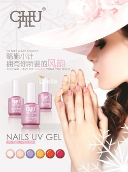 Free Shipping 2012 Lastest Edition 3x Nail Art Polish LED UV Gel 220 Colors Available 15ml 5oz Soak Off New Pink Package Lacquer