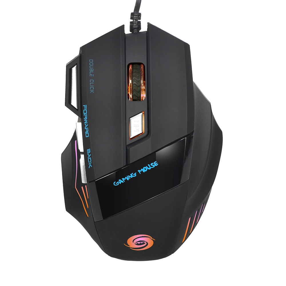 Professional 5500DPI LED Optical Gaming Mouse USB Wired Game Mice 7 Buttons Computer Mouse 1.5m Cable Mouse for Pro Gamer(China (Mainland))