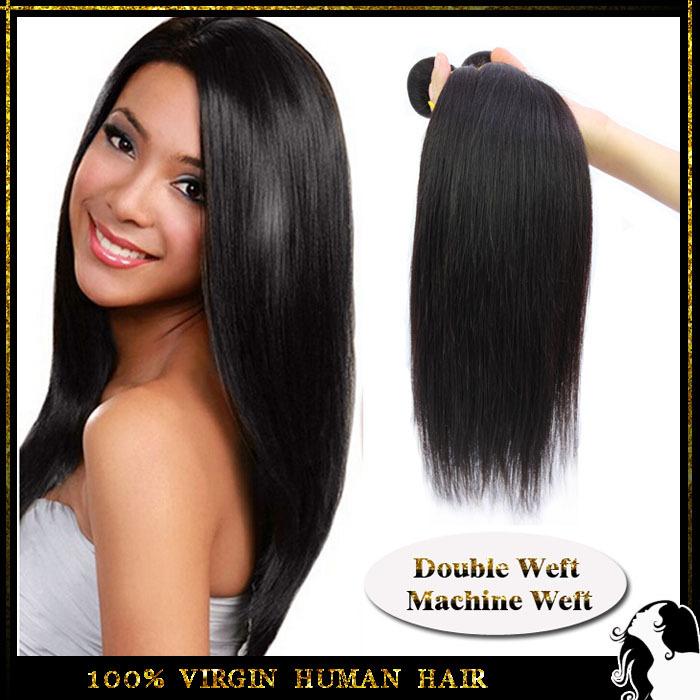 Rosa hair products brazilian virgin hair straight 6A Unprocessed brazilian straight hair 1 bundle human hair weave free shipping(China (Mainland))