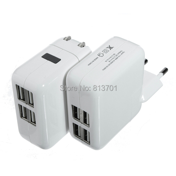 4 USB Ports EU/US/UK/AU Plug Home Travel Wall AC Power Charger Adapter For iPhone 4S 5S 6 iPad Air Mini Samsung Galaxy S5 S4 S3