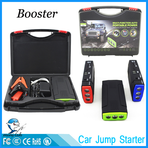 MiniFish Best Selling Products 12V Batteries Charger Portable Mini Car Jump Starter Booster Power Bank For A 12V Car(China (Mainland))