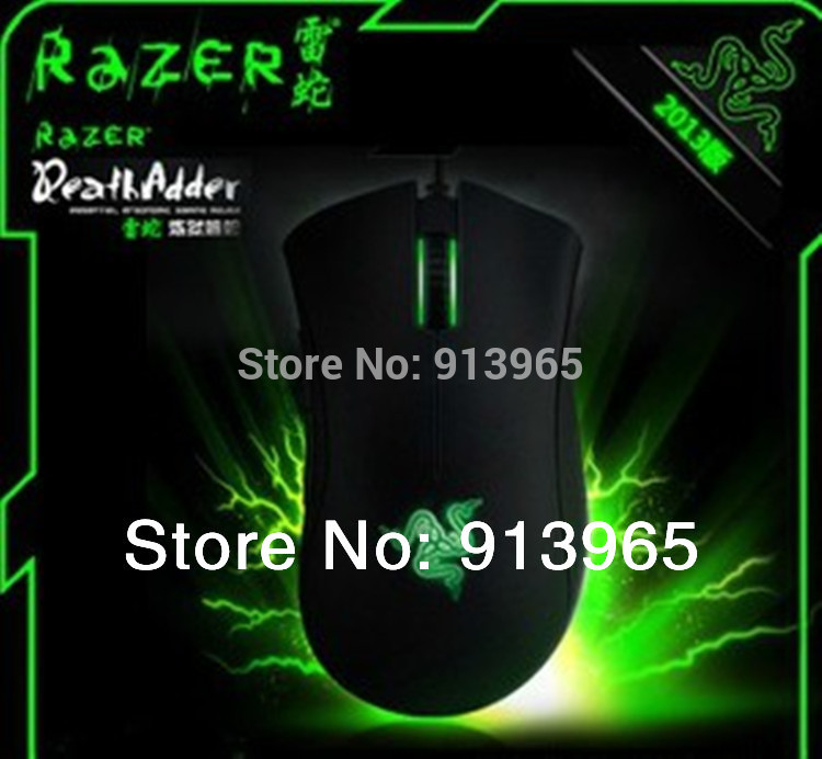 Original Razer Deathadder 2013+ 6400DPI,4G,game mouse , Brand New In box ,Free shipping by HK post !!!(China (Mainland))