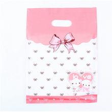 10 шт. 15x20 см 20x26 хранения подарочный пакет пластик пластиковые пакеты с рисунком с ручками одежда супермаркет кошелек для покупок мешок Свад...(China)