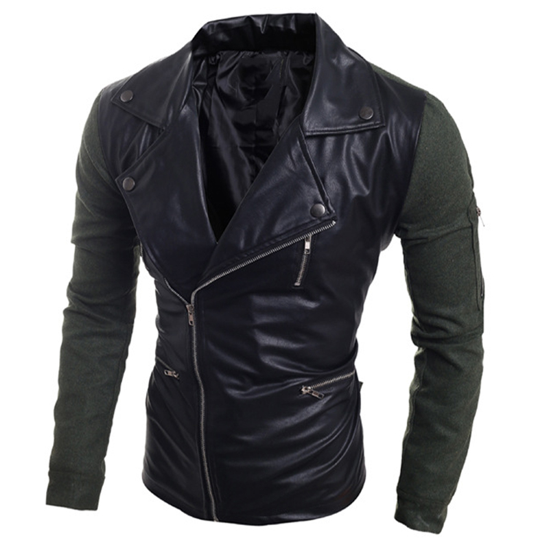 New Arrival Men's Leather Jackets Wholesale Casual Style Men Leather Overcoats Fashion Bomber Jackets Name Brand Imported S1915(China (Mainland))