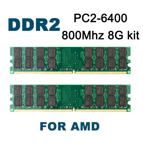 DDR2 800Mhz 8GB kit,4GBX2,KVR800D2N6/4G Brand New DIMM Memory Ram memoria ram For AMD motherboard  desktop computer <br><br>Aliexpress