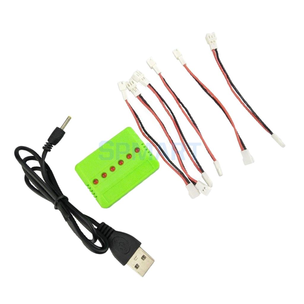 6 In 1 3.7V Balance Battery Charger for Wltoys V911 V911-1 V911-2 F929 F939 H36 E010 X5C X5SW X5SC RC Drone Helicopter