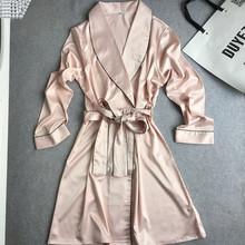 fashion womens 2016 new arrival silk robes pijamas with waistband bathrobes high quality MINI length sleepwear hot sale gifts(China (Mainland))