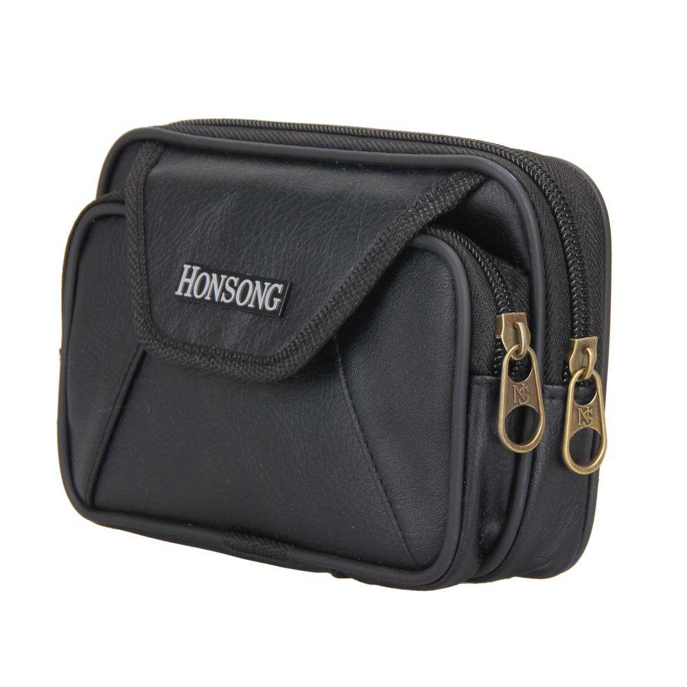 Classical Men's PU Leather Zipper Wallet Card Coin Phone Holder Purse Waist Bag(China (Mainland))