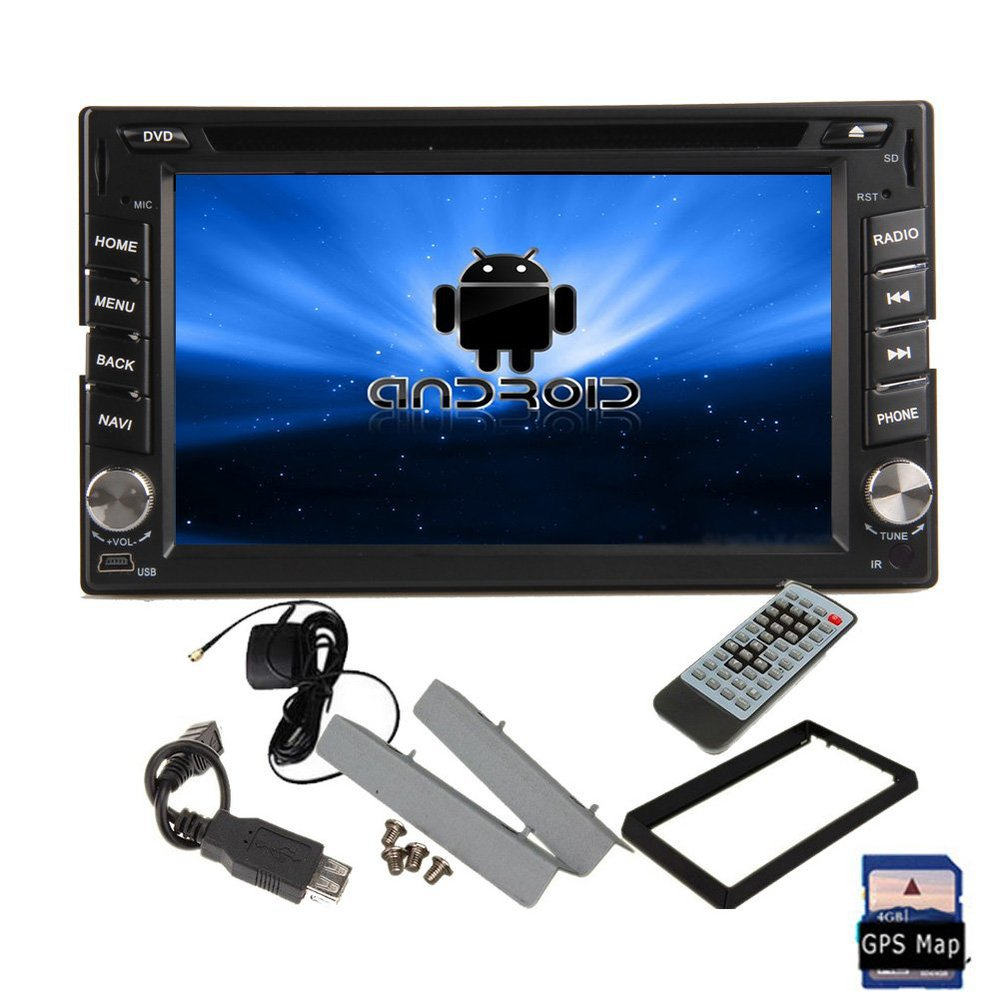 Pure Android 4.2 GPS Navi 2 Din Car DVD CD MP3 Player 2GHZ 2-Core 6.2'' Capacitive Touch Screen Car Radio Stereo WiFi Bluetooth(China (Mainland))