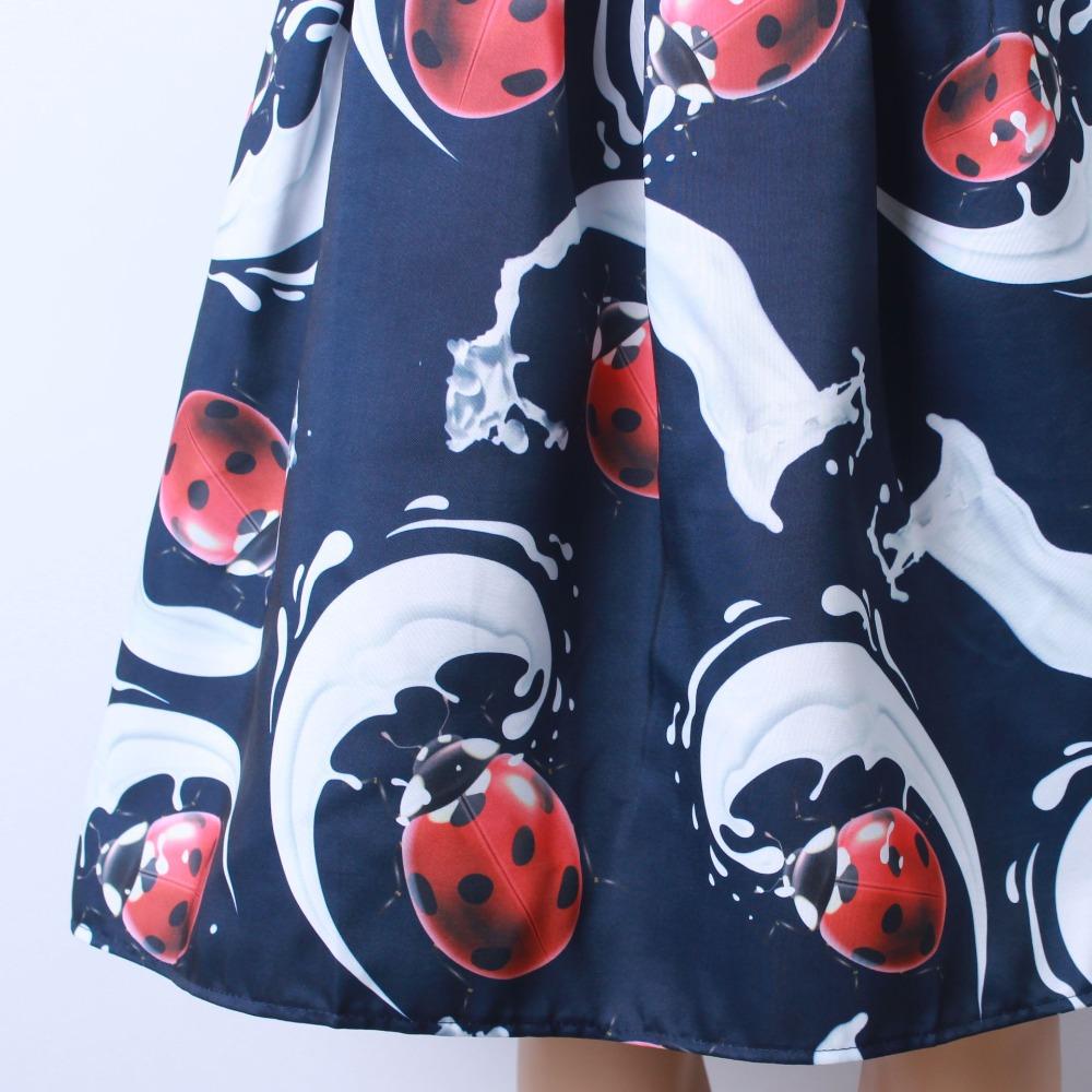 HTB1EdWJQFXXXXXSXpXXq6xXFXXXP - GOKIC 2017 Summer Women Vintage Retro Satin Floral Pleated Skirts Audrey Hepburn Style High Waist A-Line tutu Midi Skirt