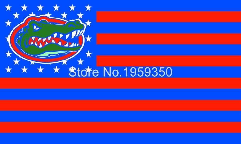 Florida Gators flag 3ftx5ft Banner 100D Polyester Flag NCAA metal Grommets(China (Mainland))