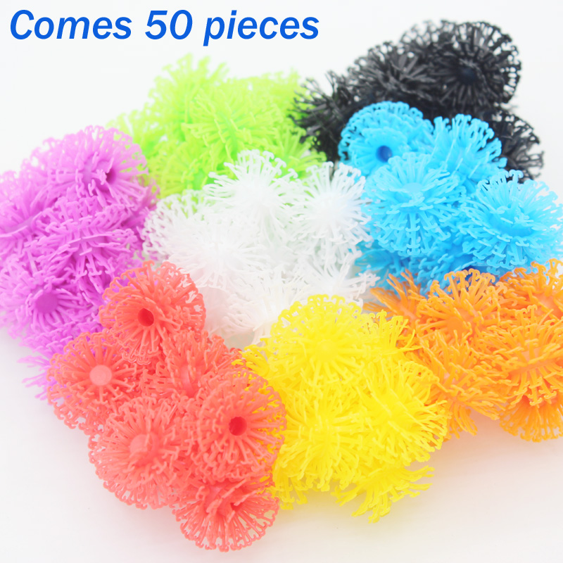 50pcs Building Block Construction Set Toy Christmas Gifts Plastic Model Kits Puffer Ball Bricks Thorn Ball DIY Toys for Children(China (Mainland))