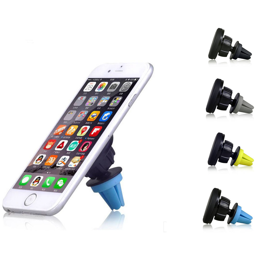 360 Degrees Universal Car Air Vent Mount Stand Sticky Magnetic Phone Holder iPhone 4 5 6 Samsung S6 s - Shenzhen GTW Technology Co., Ltd store