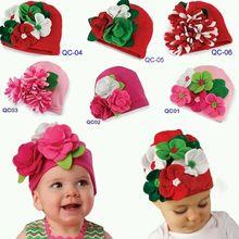 1 Pcs Retail Christmas Gift New Arrival Flowers handmade autumn winter baby caps beanies toddler boys girls Skullies hat infant(China (Mainland))