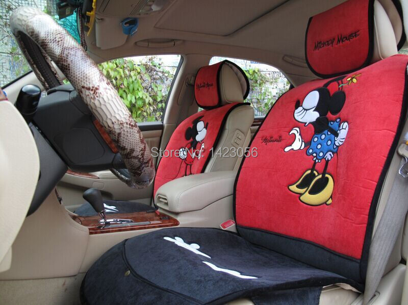 have a kiss mickey mouse car seat covers accessories for most 5 seat car interior audi toyota. Black Bedroom Furniture Sets. Home Design Ideas